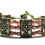 Joyfull pink 3-radigt armband
