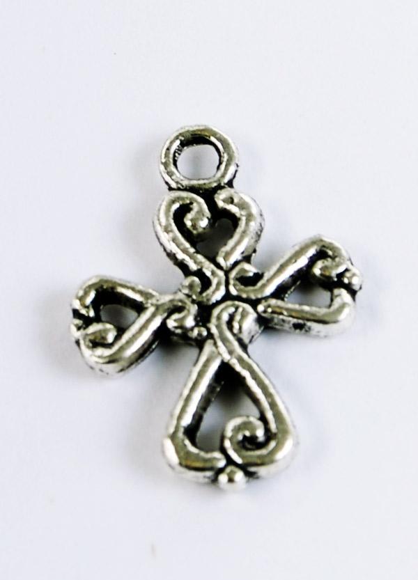 Kors berlock, smyckesmaterial i tibetsilver, Silver och Smycken Malmö