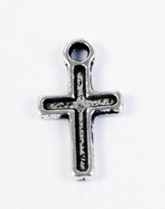 Mini kors berlock i tibetsilver i e-butiken hos Silver och Smycken i Malmö