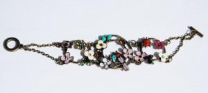 Emalj armband med nyckelpigor humla och trollslända