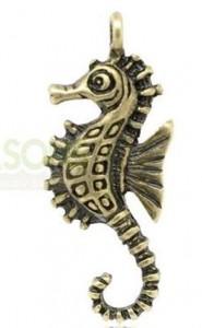 Sjöhäst berlock i brons, smycken och smyckematerial i Malmö
